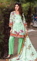 3 Meters Shirt + sleeves 2.5 Meter Dupatta 2.5 Meter Trouser