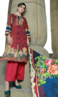 4 PCS Digital Printed Ladies Suit (100% Cotton Fabric) 3 Meters Shirt + sleeves 2.5 Meter Dupatta 2.5 Meter Trouser Shirt: Lawn Dupatta: Lawn Trouser: Lawn
