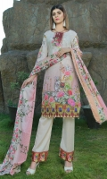 4 PCS Digital Printed Ladies Suit 100% Cotton Fabric 3 Meters Shirt + sleeves 2.5 Meter Dupatta 2.5 Meter Trouser Shirt: Lawn Dupatta: Lawn Trouser: Lawn