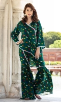 2 PCS Printed Ladies Suit (100% Cotton Fabric) 2.5 Meters Shirt + sleeves 2.5 Meter Trouser Shirt: Lawn Trouser: Lawn