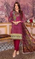 3 Meters Printed khaddar Shirt 2.5 Meter Dyed Khaddar Trouser 2.25 Meter Printed Palachi Shawl Shirt: khaddar Trouser: Khaddar Dupatta: Palachi Shawl