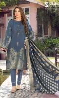 Shirt: Jacquard Fabric Dupatta: Jacquard Fabric Trouser: Cotton Cambric