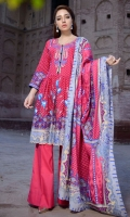 3 PCS Printed Ladies Suit 2.5 Meter Shirt 2.5 Meter Trouser 2.5 Meter Dupatta Shirt: Cotton Cambric Trouser: Cotton Cambric Dupatta: Cotton Cambric