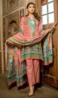 3 PCS Printed Ladies Suit (100% Cotton Fabric) 2.5 Meters Shirt + sleeves 2.5 Meter Dupatta 2.5 Meter Trouser Shirt: Lawn Dupatta: Lawn Trouser: Lawn