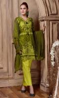 Shirt: Lawn Dupatta: Chiffon with chifley embroiderey Trouser: Lawn