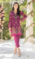 DIGITALLY PRINTED 3.1 LAWN SHIRT  DYED 2.5m LAWN TROUSER  EMBROIDERED FRONT