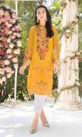 DIGITALLY PRINTED 3.1 LAWN SHIRT  DYED 2.5m LAWN TROUSER  EMBROIDERED NECKLINE