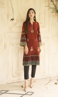 DIGITALLY PRINTED 3.1m LAWN SHIRT  EMBROIDERED FRONT