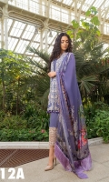 Embroidered Front  Printed Back And Sleeves Printed Silk Dupatta  Embroidered Border patch Plain Dyed Trouser