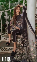 Printed Front, Back, Sleeves Embroidered Net Dupatta  Embroidered Border patch  Embroidered Patches Embroidered sleeve lace Plain Dyed Trouser