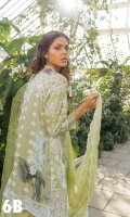 Embroidered Front  Printed Back & Sleeves Embroidered Crinkle Chiffon Dupatta  Embroidered Border Patch Embroidered Patch Plain Dyed Trouser