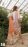 Printed Front, Back, Sleeves Embroidered Net Dupatta Embroidered Patches  Plain Dyed Trouser