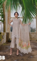 Embroidered Front  Plain Dyed Back Printed Sleeves Embroidered Net Dupatta  Embroidered Border Patch Plain Dyed Trouser