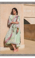 - Embroidered front - Printed back and sleeves - Printed chiffon dupatta - Plain dyed trouser