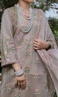 Shirt: Mysorie Embroidered  Dupatta: Khaadi Jacquard Dupatta. Raw Silk Fine Trouser.