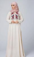 Formal Irish Stitched Abaya Morganite Beige