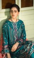 Shirt Front 1.20 Mtr,  Shirt Back 1.20 Mtr,  Sleeves 0.65 Mtr,  Trouser 2.50 Mtr,  Embroidered Check Silk Dupatta