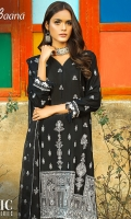 -Lawn Shirt Front 1 Mtr  -Lawn Shirt Back 1.5 Mtr  -Lawn Trouser 2.5 Mtr  -Sleeves from back  -Embroidered Crinkle Dupatta