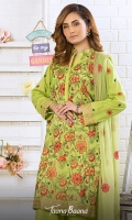 Embroidered Unstitch Three Pcs Suit