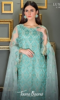 Unstitch 3pc embroidered suit