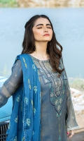 Dupatta:    Crinkle, Embroidered ,2.5 Meters Shirt Front:   1.15 Meter, Embroidered Shirt Back:    02 Meters