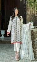 Dupatta:    Crinkle , 2.5 Meters Shirt Front:   1.1 Meter, Embroidered Shirt Back:    1.75 Meters  Trousers:        2.5 Meters