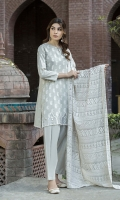 -Lawn Shirt Front 1.15 Mtr  -Lawn Shirt Back 1.75 Mtr  -Lawn Trouser 2.50 Mtr  -Sleeves from back  -Crinkle Embroidered Dupatta