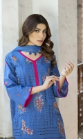-Lawn Shirt Front 1.25 Mtr  -Lawn Shirt Back 1.75 Mtr  -Lawn Trouser 2.50 Mtr  -Sleeves from back  - Crinkle Embroidered Dupatta