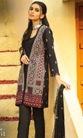 -Lawn Shirt Front 1.2 Mtr  -Lawn Shirt Back 1.75 Mtr  -Lawn Trouser 2.5 Mtr  -Sleeves from back  -Embroidered Crinkle Dupatta