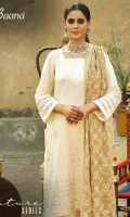 -Lawn Shirt Front 1 Mtr  -Lawn Shirt Back 1.5 Mtr  -Lawn Trouser 2.5 Mtr  -Sleeves from back  -Contrast Embroidered Arkandi Dupatta