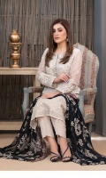 Semi-Stitched Embroidered White Chiffon   Exclusive Fancy Embroidered Blue & White Chiffon Dupattas   Along with Viscose Shalwar