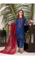 Three Piece Fancy & Exclusive Embroidered Chiffon Semi-Stitched with Exclusive Fancy Stylish Dupattas.