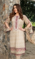 - Un-Stitched Embroidered Printed Lawn Shirts   - Fancy Embroidered Chiffon Dupatta  - Plain Dyed Shalwar