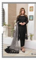 Semi Stitched Embroidered Crinkle shirt  Embroidered & Printed Chiffon Dupatta  Plain Viscose Trouser