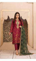 -  Un-Stitched Viscose Banarsi Shirt with Patch Work Embroidery Designs  - Exclusive Fancy Embroidery Dupattas  - Dyed Plain Shalwar