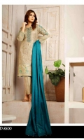 3pc embroidered suit with Banarsi Shawl Dupatta