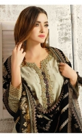 Shirt: - Embroidered Chikankari Linen Shawl: - Embroidered Luxury High Quality Velvet Shawl Trouser: - Dyed Linen