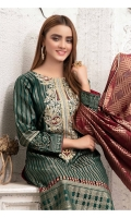 Delightful Unstitched embroidered Broshia Cotton Colors with Splendid Contrast Broshia Dupattas.