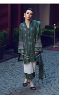 3 Piece Embroidered Suit Shirt Front: Jacquard Shirt Back: Digital Printed Lawn Dupatta : Digital Printed Silk Sleeves: Digital Printed Lawn Trouser : Dyed EMBROIDERY Embroidered Daman For Front Embroidered Border For Sleeves Embroidered Border For Trouser
