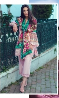 3 Piece Embroidered Suit Shirt : Digital Printed Lawn Dupatta : Digital Printed Net  Sleeves: Dyed Lawn Trouser : Dyed  BORDER Digital Printed Border For Sleeves EMBROIDERY Embroidered Daman For Front and Back Embroidered Border For Sleeves Embroidered Border For Trousers