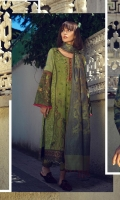 3 Piece Embroidered Suit Shirt : Digital Printed Lawn Shirt Panel: Jacquard Dupatta : Jacquard Printed Sleeves: Digital Printed Lawn Trouser : Dyed BORDER Digital Printed Border For Front, Back & Sleeves EMBROIDERY Embroidered Center Panel on Jacquard Embroidered Sleeves Embroidered Bunches For Trouser