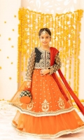 Embroidered Organza Frock Embroidered Velvet Jacket Embroidered Net Lehenga Chiffon Dupatta Embroidered Pouch