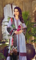Printed Schiffili Lawn Front 1pc Digital Print Lawn Back 1.25m Digital Print Lawn Sleeve 0.6m Digital Print Chiffon Dupatta 2.5m Dyed Cambric Trouser 2.5m Embroidered Patch 01