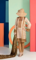 Shirt: 3.0 Meter Printed Lawn  2.5 Meter Printed Lawn Dupatta 2.5 Meter Dyed Trouser