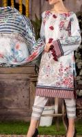 Fabric Detail: Luxury Emb Lawn Dress with Digital Printed Bimber Chiffon Dupatta. Shirt: 3 meter(Embroidered Lawn Shirt) Dupatta: 2.5 meter(Digital Bimber Chiffon Dupatta) Dyed Trouser: 2.5 meter