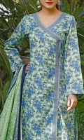 3.0 Meter Printed Lawn Shirt. 2.5 Meter Printed Lawn Dupatta. 2.5 Meter Dyed Trouser.