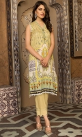 Digital Printed Suprema Lawn Shirt, Digital Printed Bamber Dupatta, Dyed Cotton Trouser