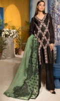 Shirt : Embroidered Silk Shirt  Trouser: Dyed Raw Silk Trouser  Dupatta: Embroidered Organza Dori Dupatta