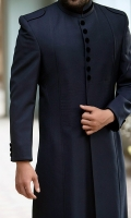 Suiting Formal Sherwani in Navy Blue