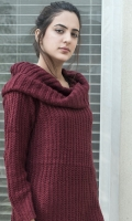 Turtle neck long woven sweater with slits on sides  SIZE
